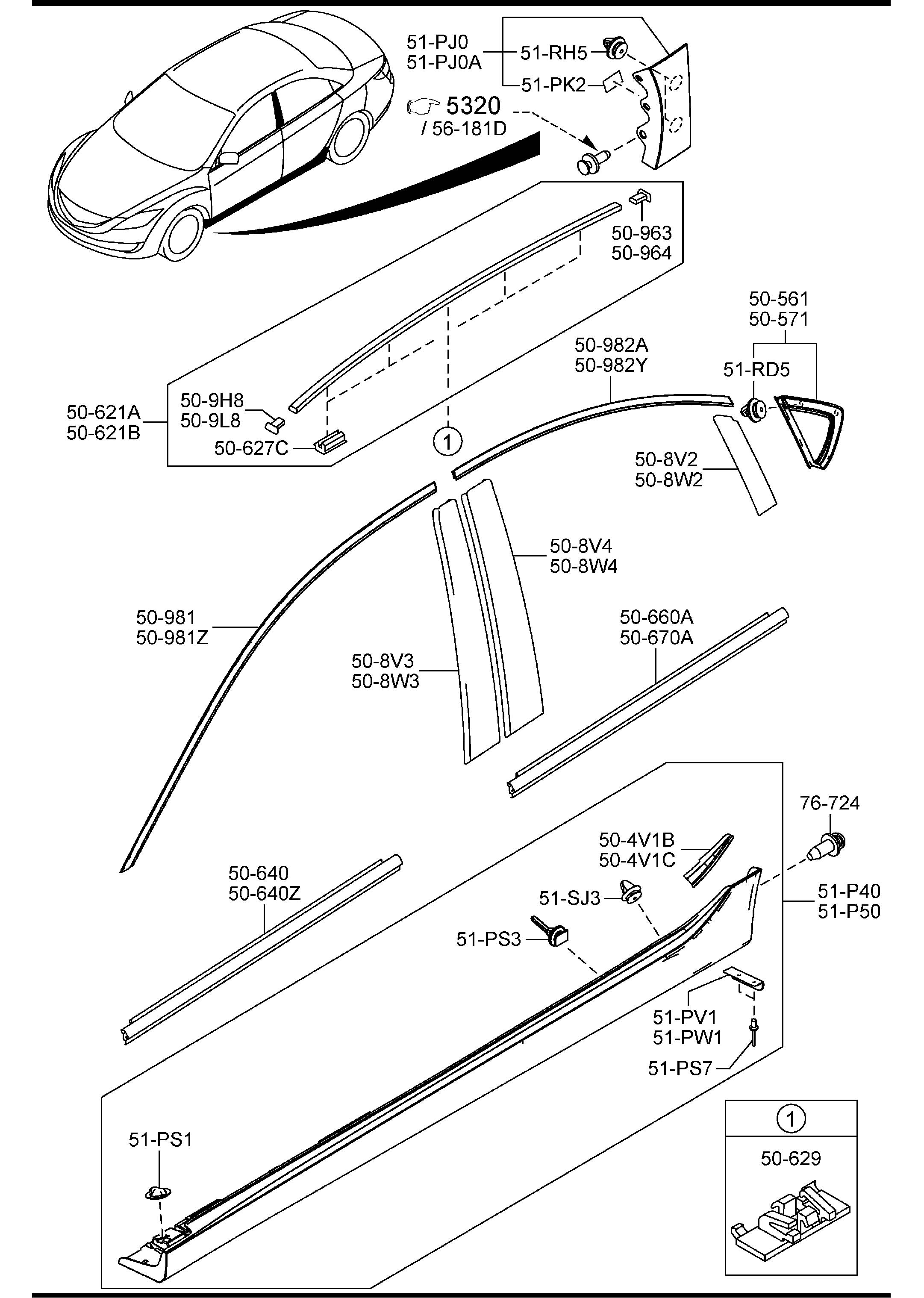 mazda 3 sedan body parts diagrams