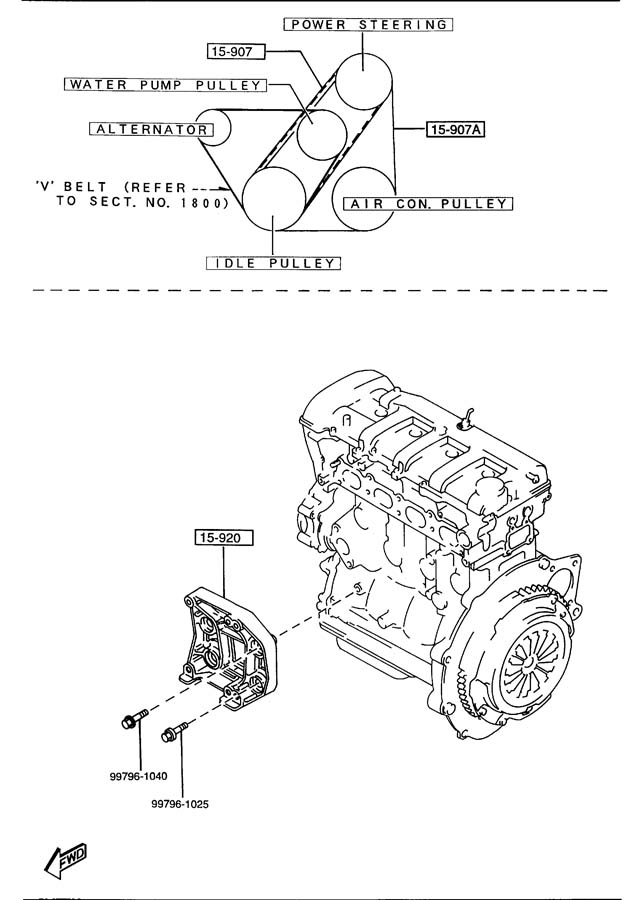 RepairGuideContent together with Chevy Aveo Thermostat Location further Showthread as well 96 Mazda B2300 Engine Diagram together with Renault Clio Wiring Diagram. on 91 mazda protege engine diagram